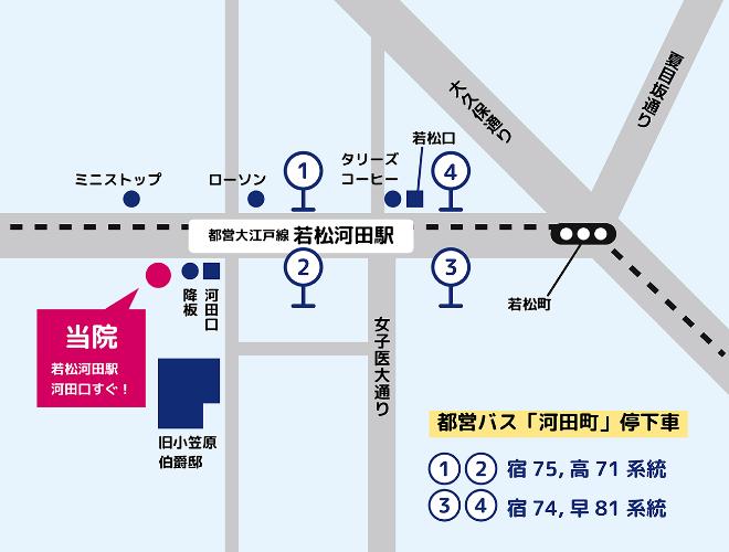 若松河田の地図